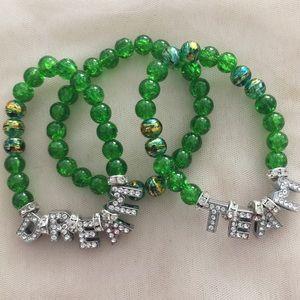 Customized Name Beaded Bracelet Set